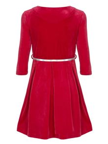 Yumi Girls Velvet Belt Dress