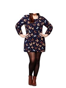 Yumi Curves Butterfly Tunic Dress
