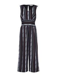 Yumi Stripe Sleeveless Jumpsuit