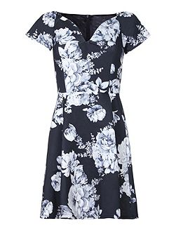 Floral Print Bardot Party Dress