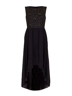 Lace Top Panel Party Dress