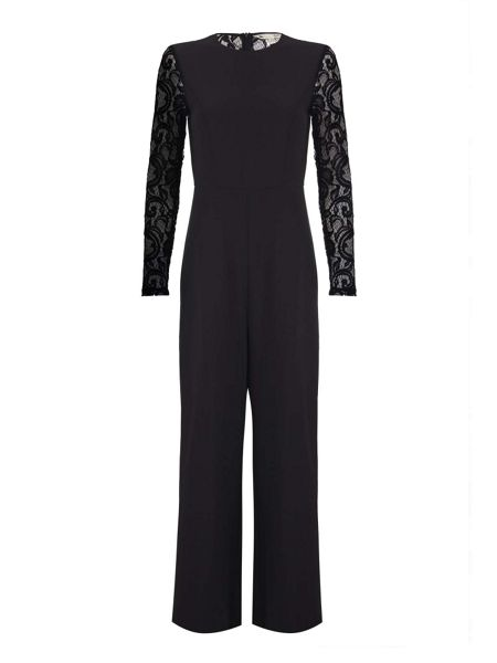 Mela London Lace Wide Leg Jumpsuit