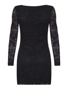 Mela London Lace Long Sleeve Bodycon Dress