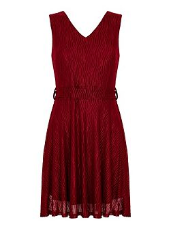Shimmer Waves Tie Dress