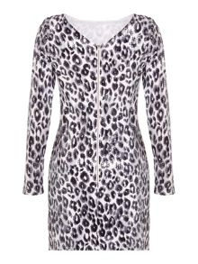 Mela London Leopard Sequin Bodycon Dress