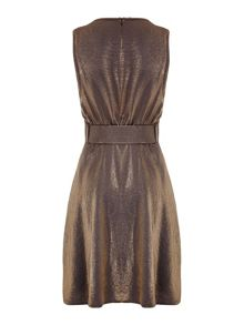Mela London Belted Metallic Dress