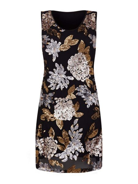 Mela London Floral Sequin Dress