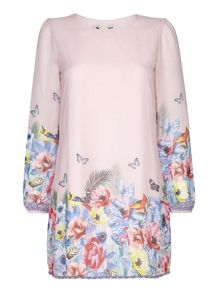 Yumi Tropcial Floral Tunic Dress