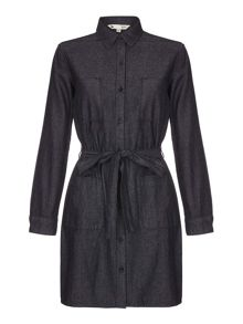 Yumi Denim Shirt Dress