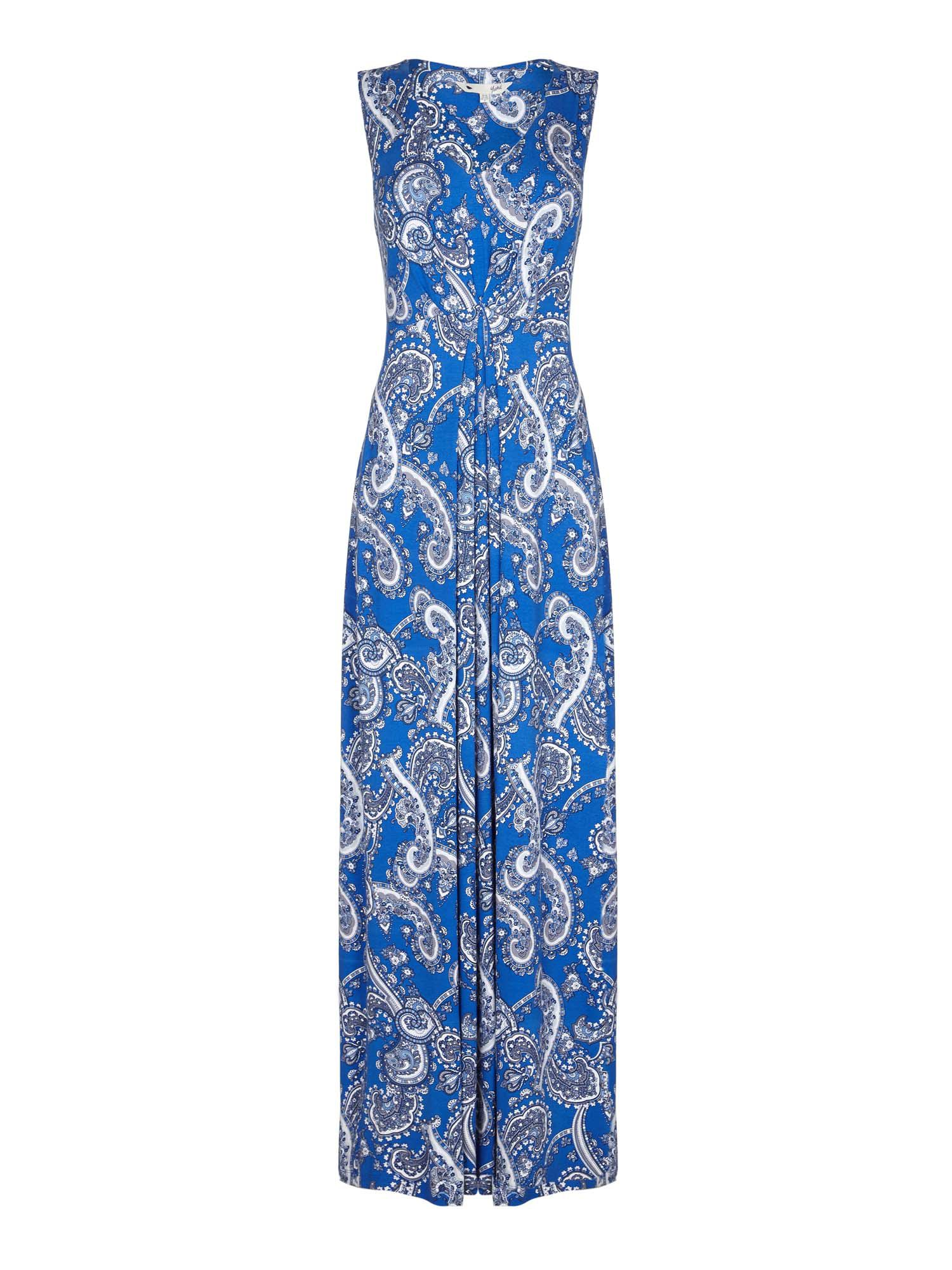 Yumi Paisley Jersey Maxi Dress, Blue