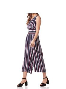 Mela London Stripe Print Sleeveless Jumpsuit