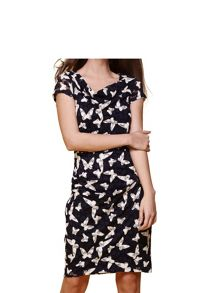 Yumi Butterfly Print Dress