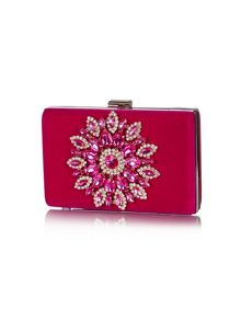Yumi Diamante Velvet Clutch Bag