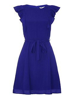 Line Frill Sleeve Day Dress