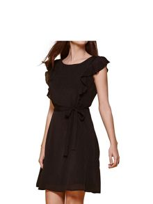 Yumi Line Frill Sleeve Day Dress