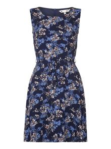 Yumi Sleeveless Flower Print Dress