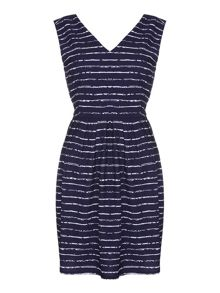 Yumi Stripe V-Neck Dress