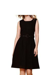 Yumi Sleeveless Belt Dress