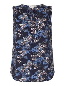 Yumi Floral Print Sleeveless Top