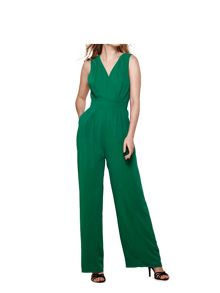 Yumi Wide Leg V Neck Jumpsuit