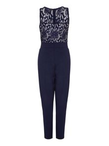 Mela London Contrast Lace Sleeveless Jumpsuit