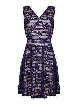 Butterfly Lace Sleeveless Dress