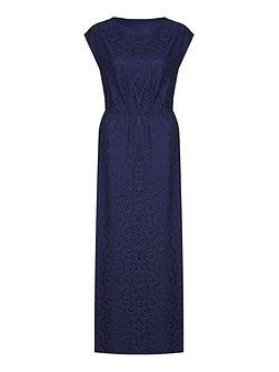 Lace Cap Sleeve Maxi Occasion Dress