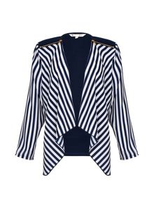 Yumi Stripe Print Zip Jacket