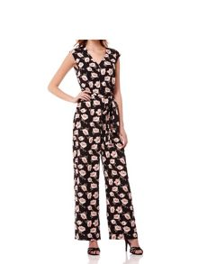 Mela London Flower Print Sleeveless Jumpsuit