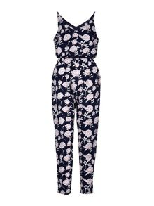 Mela London Floral Print Drawstring Jumpsuit