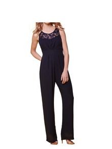 Yumi Lace Sweetheart Sleeveless Jumpsuit