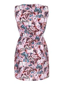 Yumi Butterfly Print Skater Dress