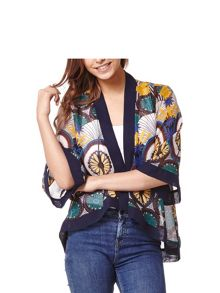 Mela London Printed Waterfall Front Kimono