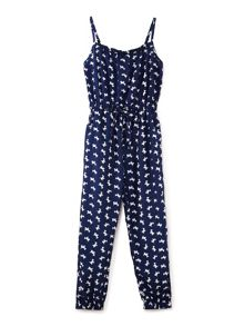 Yumi Girls Dog Print Jumpsuit