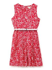 Yumi Girls Ditsy Floral Print Sleeveless Dress