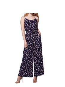 Yumi Butterfly Print Sleeveless Jumpsuit