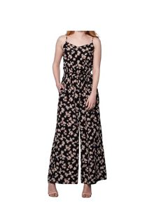 Yumi Flower Print Sleeveless Jumpsuit