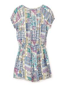 Yumi Girls Patchwork Print Playsuit
