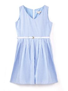 Yumi Girls Stripe Belted Dress