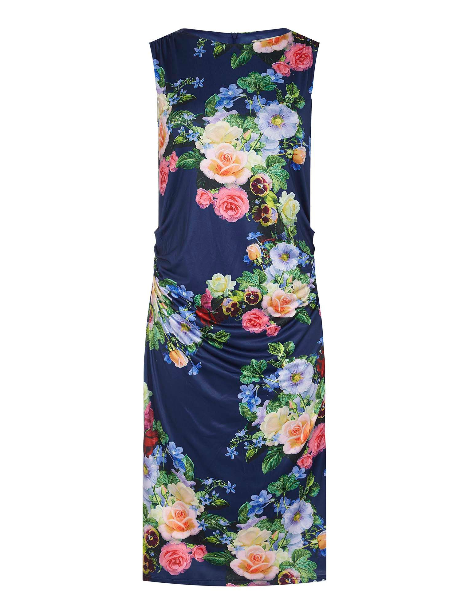 Yumi Floral Bodycon Dress, Blue
