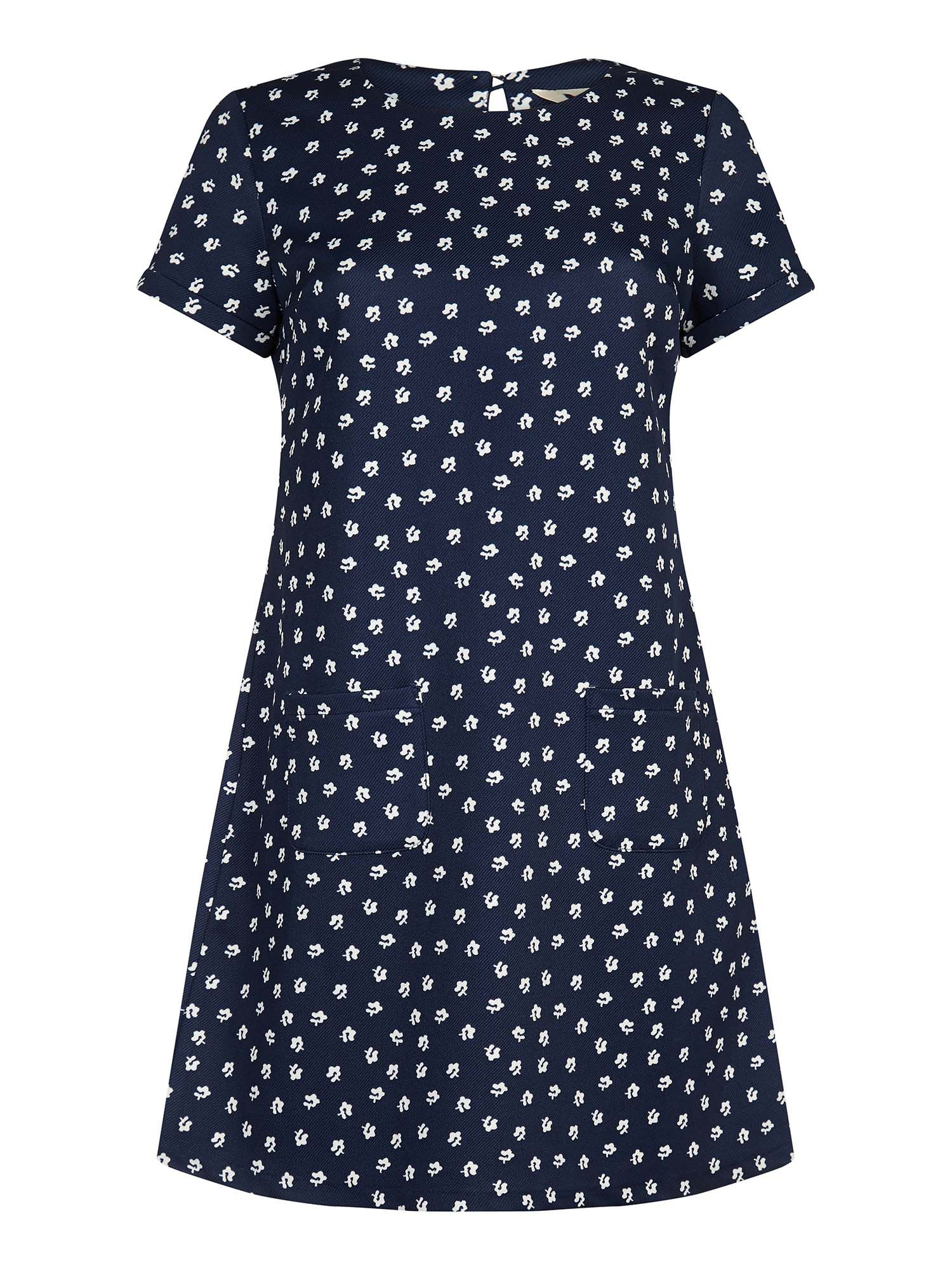 Yumi Daisy Print Tunic Dress, Blue