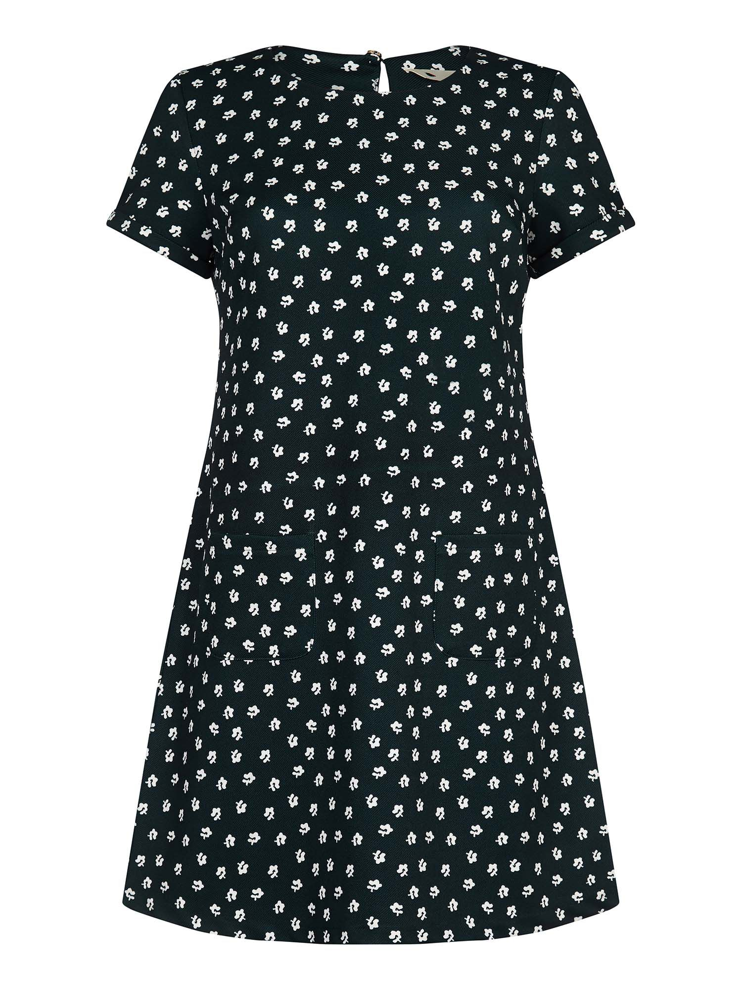 Yumi Daisy Print Tunic Dress, Green