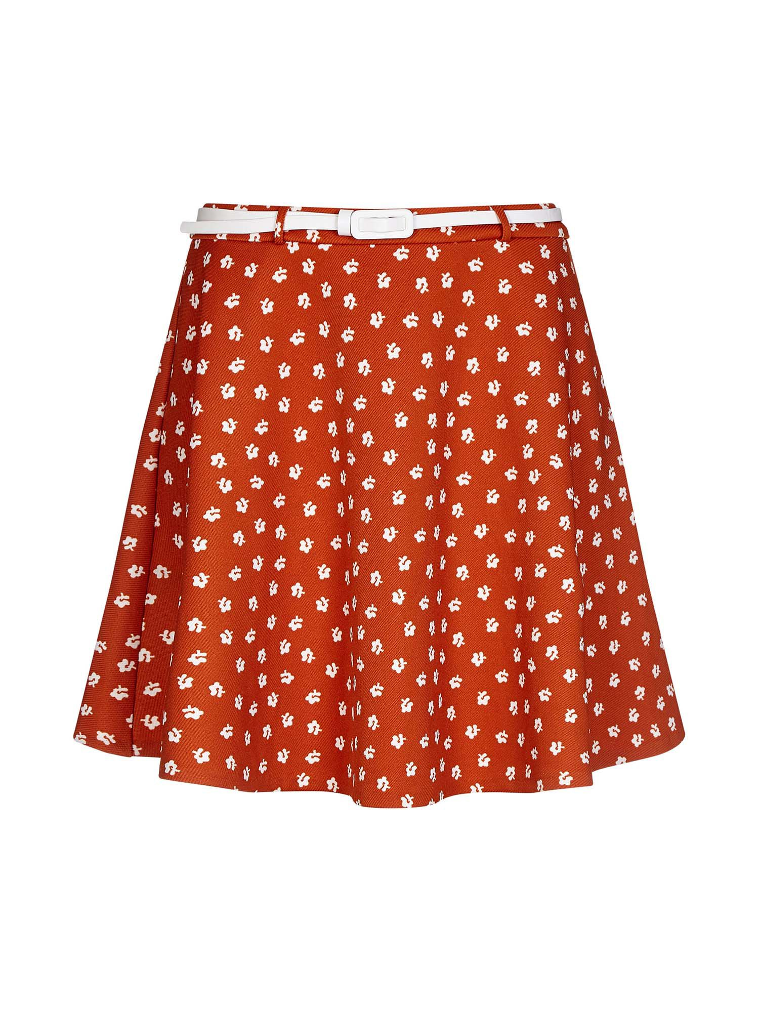 Yumi Daisy Print Skirt, Orange