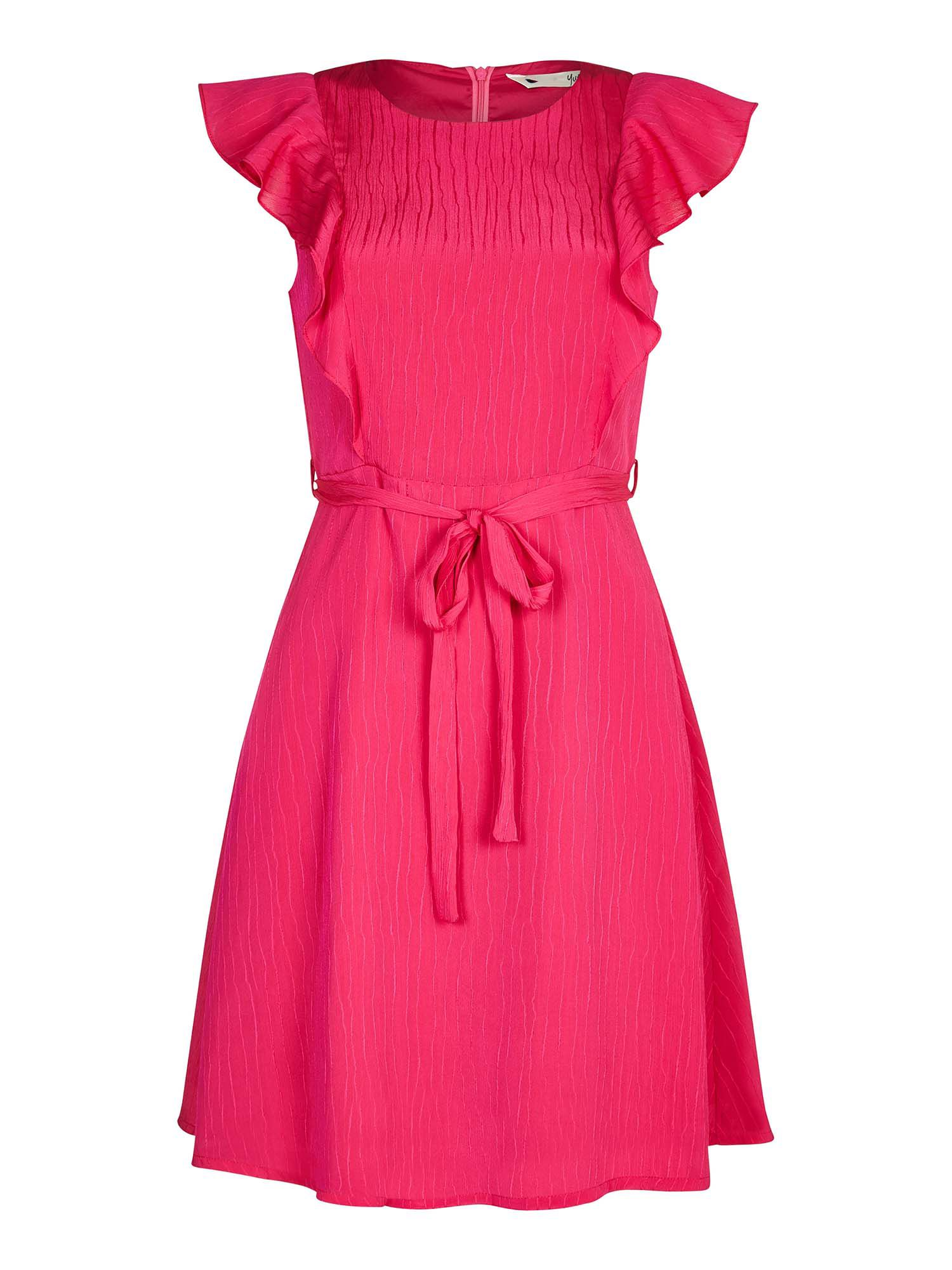 Yumi Ruffled Panel Dress, Pink