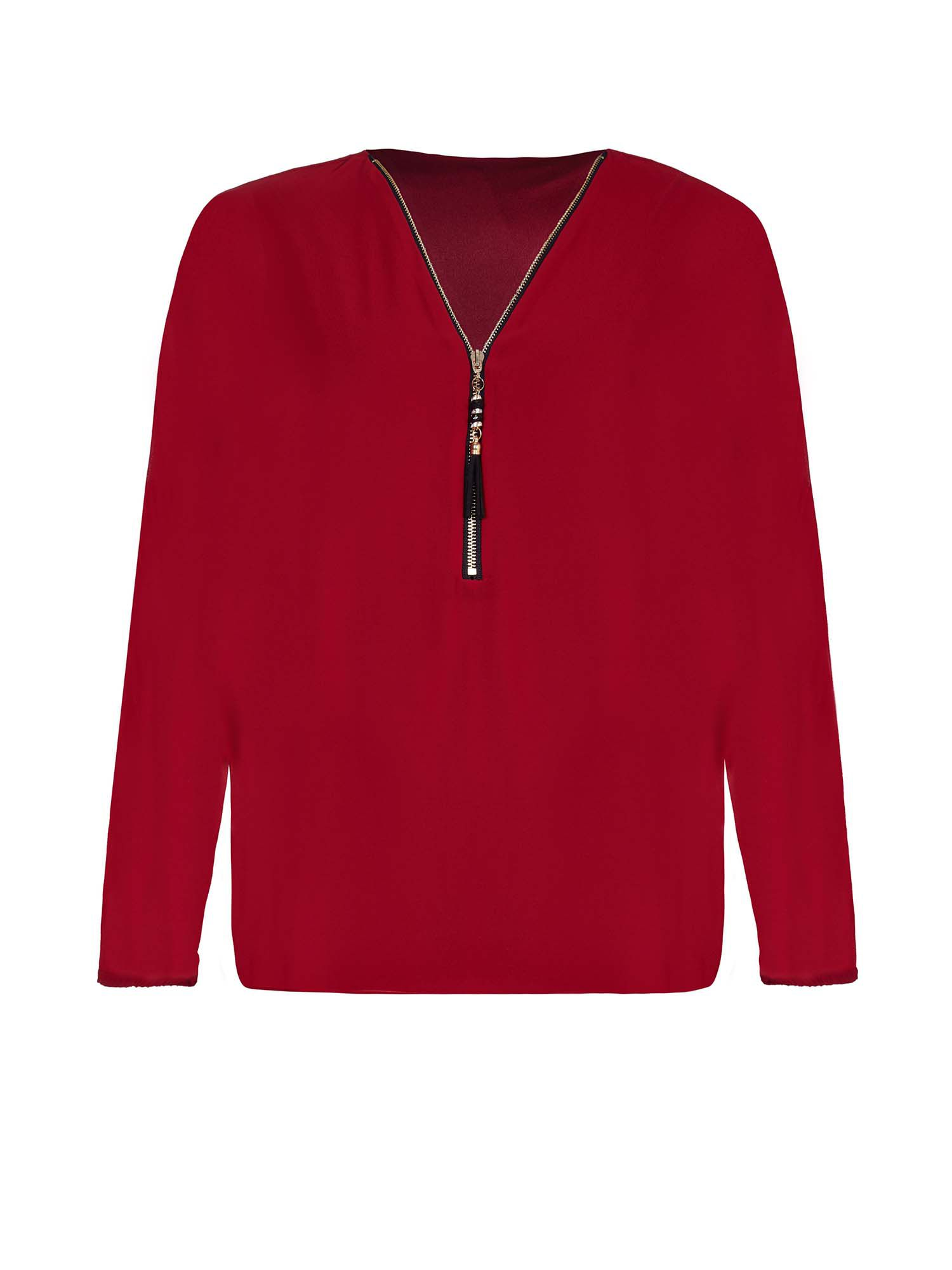Yumi Batwing Blouse, Red