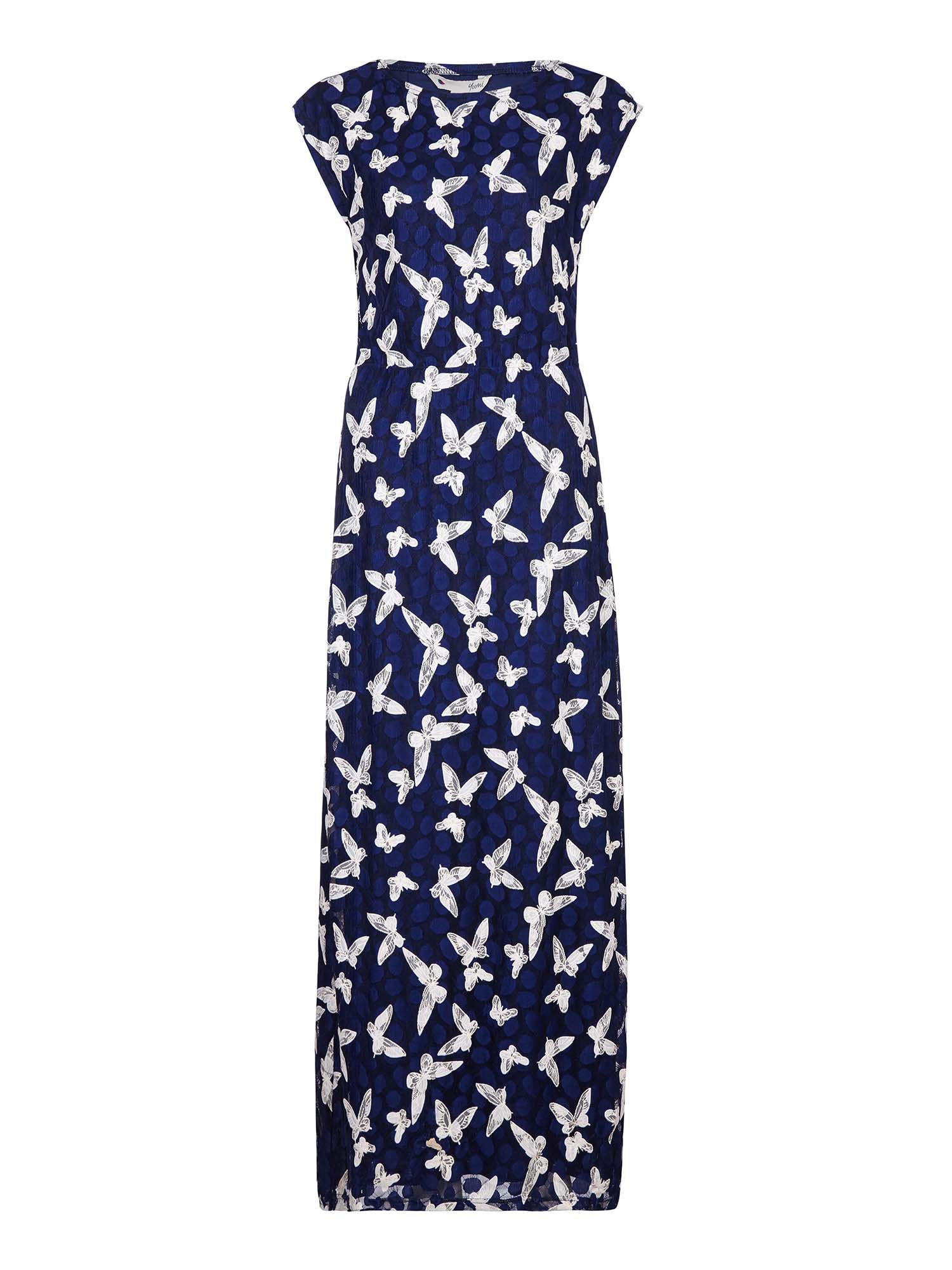 Yumi Butterfly Patterned Maxi Dress, Blue