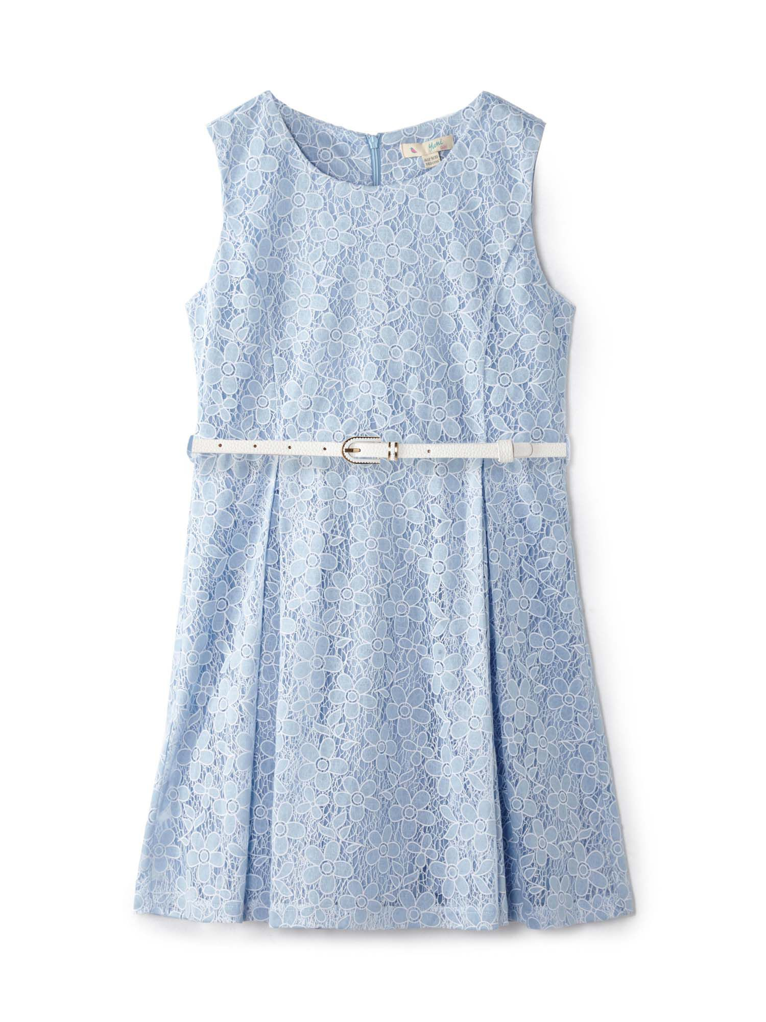 Click to view product details and reviews for Yumi Girls Daisy Lace Party Dress Light Blue.