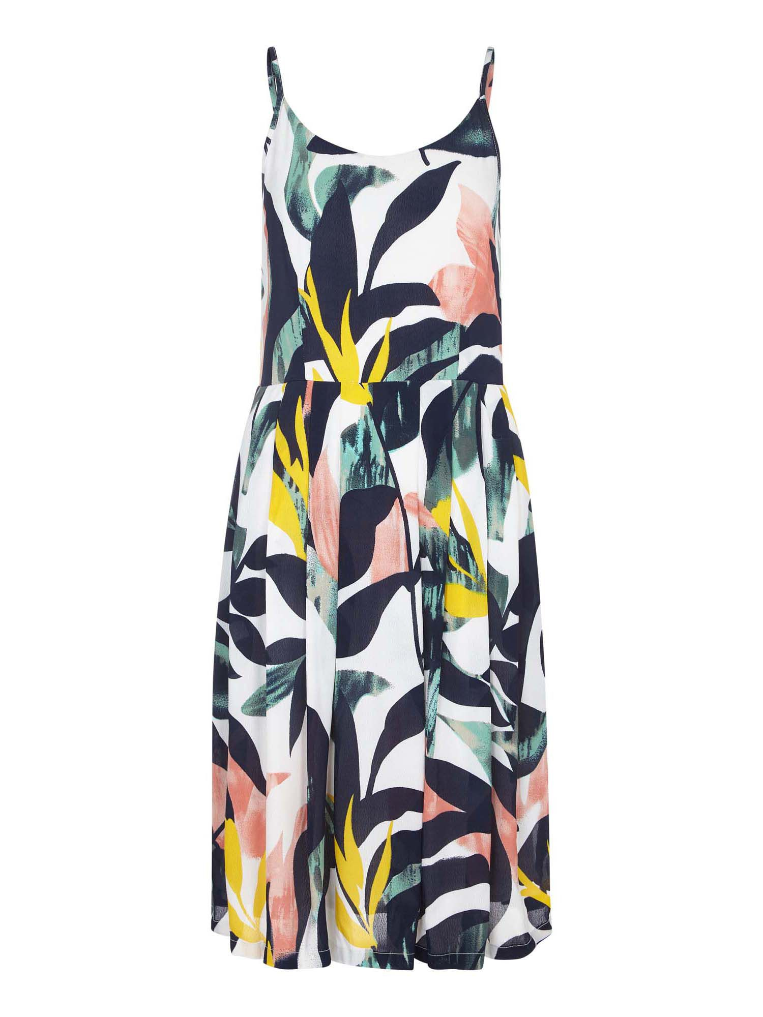 Yumi Curves Abstract Tropical Dress, Multi-Coloured