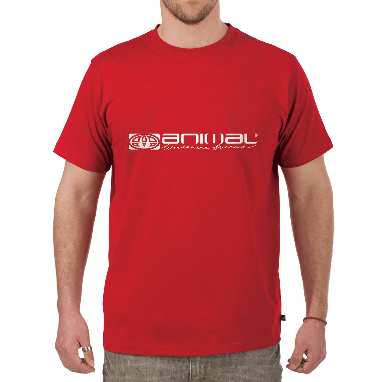 Animal Mens Animal Mens lairg t-shirt, Red 166077838 product image
