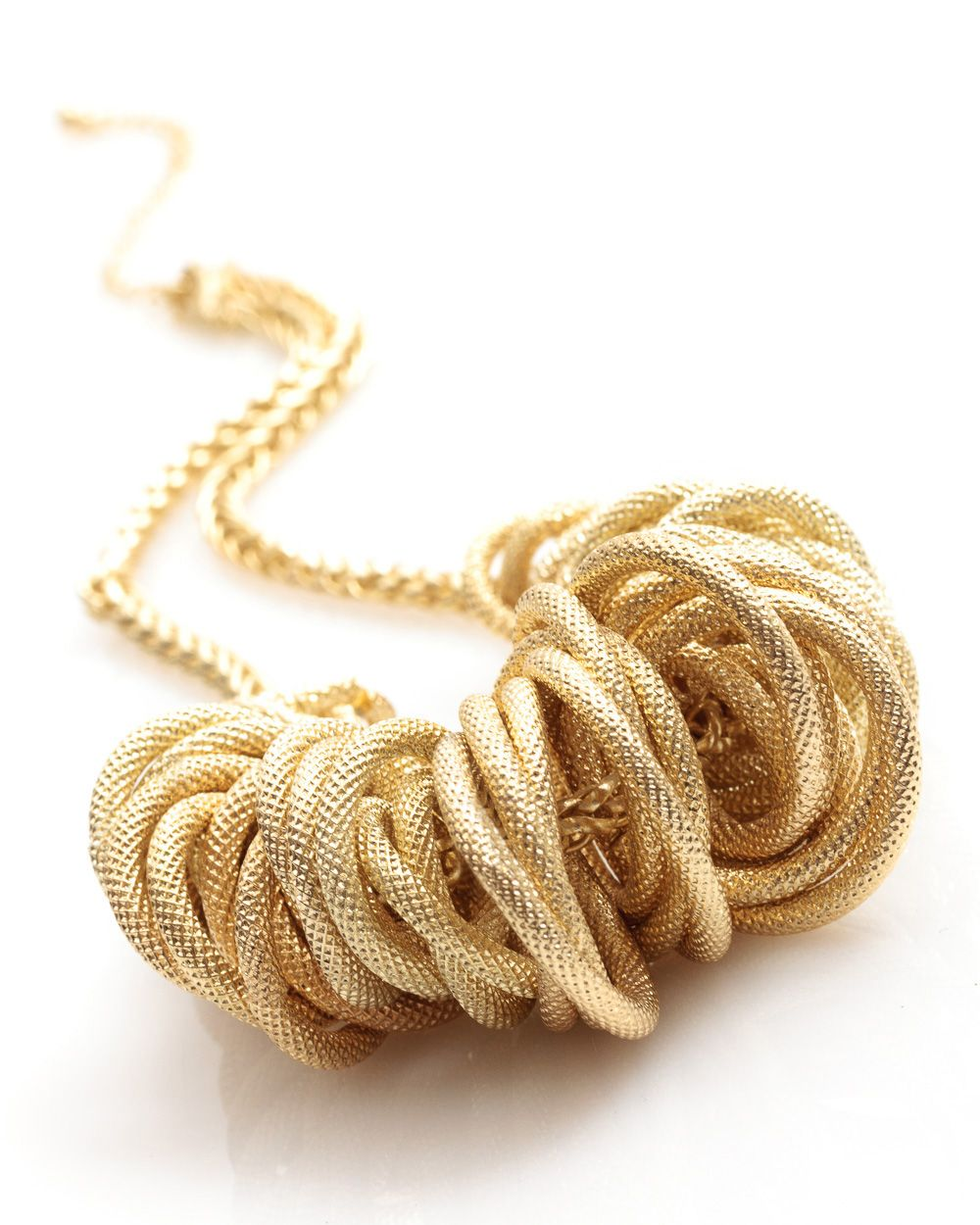 Textured ring necklace